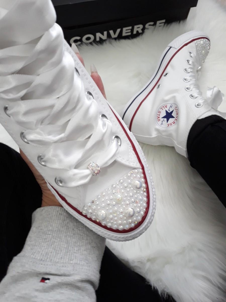 03a2423367 Vysoké biele converse klasik