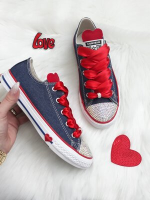 Jeans converse, AB crystal